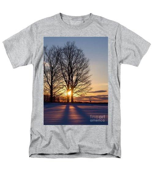 Men's T-Shirt  (Regular Fit) featuring the photograph Winter, Crystal Spring Farm, Brunswick, Maine -78592 by John Bald