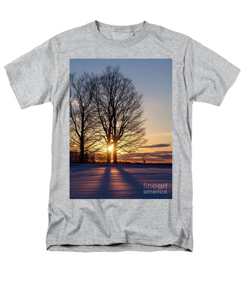 Winter, Crystal Spring Farm, Brunswick, Maine -78592 Men's T-Shirt  (Regular Fit)