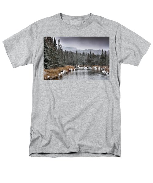 Winter In The Adirondack Mountains - New York Men's T-Shirt  (Regular Fit) by Brendan Reals