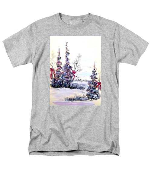 Men's T-Shirt  (Regular Fit) featuring the painting Winter Joy by Dorothy Maier