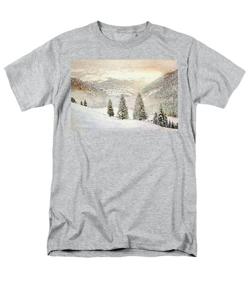 Men's T-Shirt  (Regular Fit) featuring the digital art Winter Morning by Kai Saarto