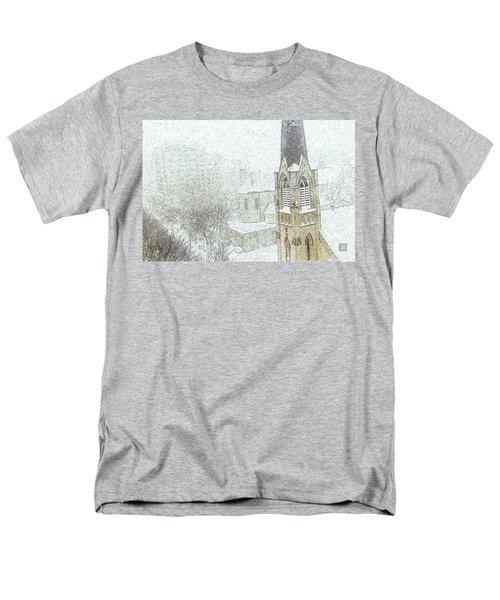 Winter Scene A La Van Gogh Men's T-Shirt  (Regular Fit) by Yvonne Wright