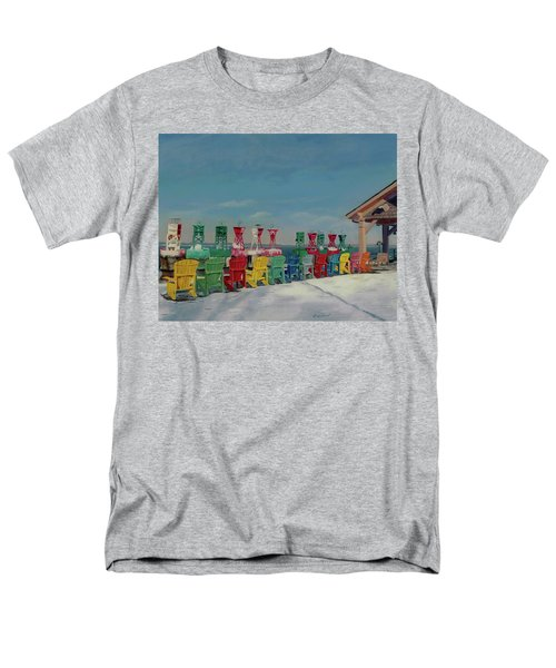 Men's T-Shirt  (Regular Fit) featuring the painting Winter Sentries by Lynne Reichhart