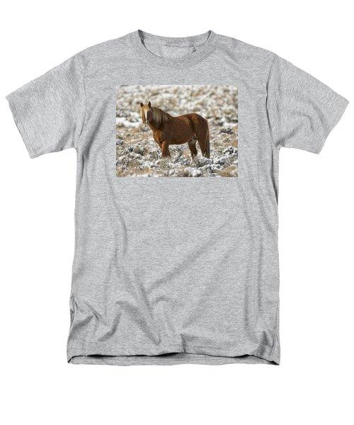 Winter Stallion Men's T-Shirt  (Regular Fit) by Mitch Shindelbower