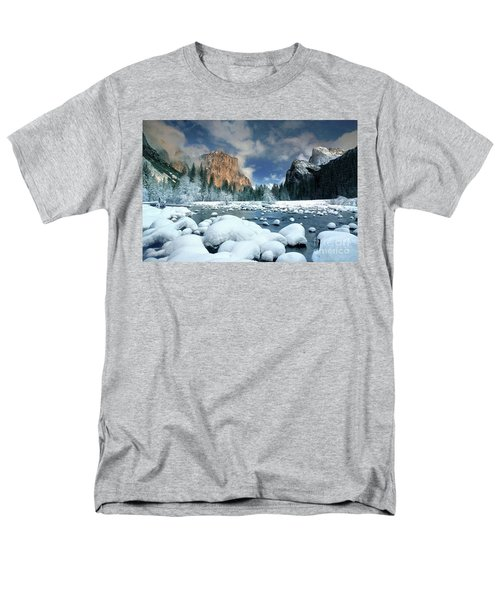 Men's T-Shirt  (Regular Fit) featuring the photograph Winter Storm In Yosemite National Park by Dave Welling