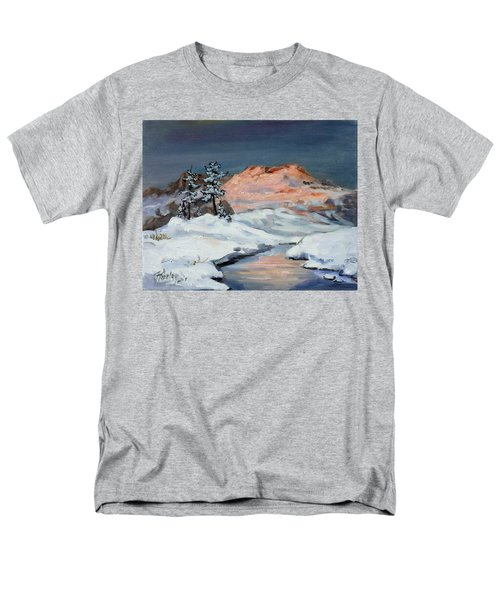 Winter Sunset In The Mountains Men's T-Shirt  (Regular Fit) by Irek Szelag