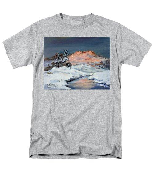 Winter Sunset In The Mountains Men's T-Shirt  (Regular Fit)