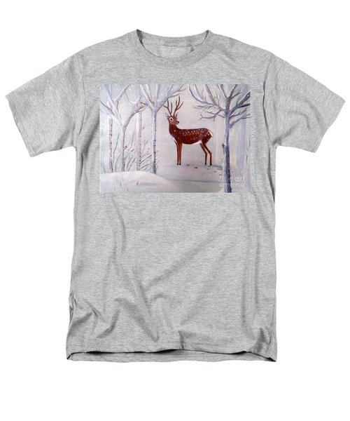 Winter Wonderland - Painting Men's T-Shirt  (Regular Fit) by Veronica Rickard