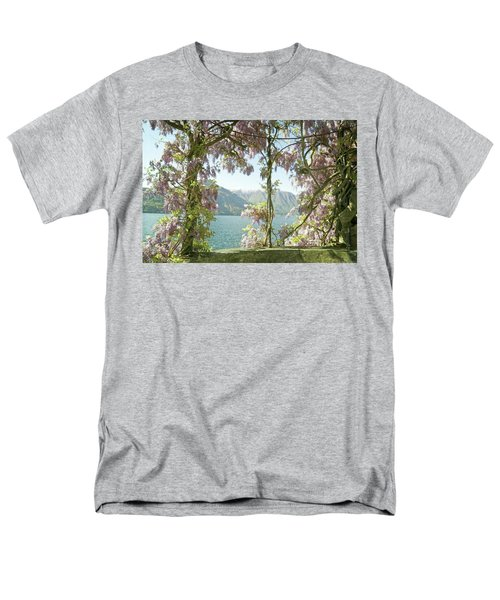 Wisteria Trellis Lago Di Como Men's T-Shirt  (Regular Fit) by Brooke T Ryan