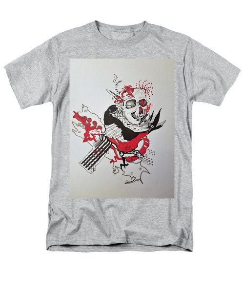 Men's T-Shirt  (Regular Fit) featuring the drawing World Down-side-up by Kevin F Heuman