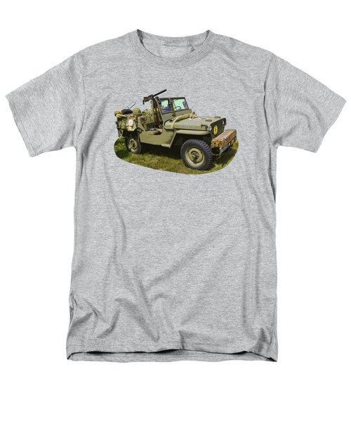 World War Two - Willys - Army Jeep  Men's T-Shirt  (Regular Fit) by Keith Webber Jr