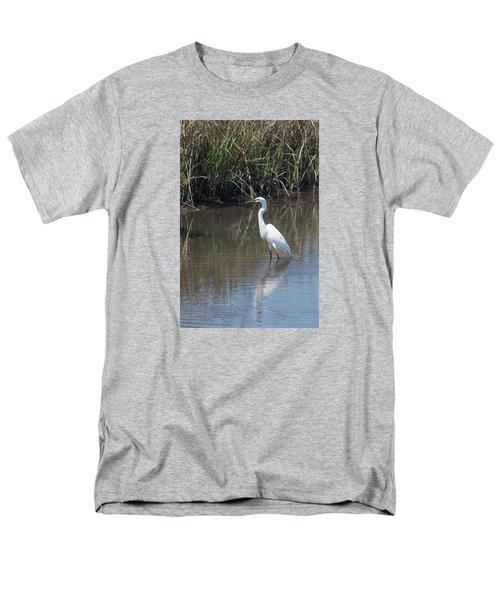 Yawkey Wildlife Refuge - Great White Egret II Men's T-Shirt  (Regular Fit) by Suzanne Gaff
