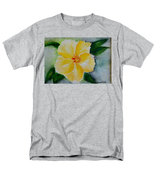 Yellow Hibiscus Men's T-Shirt  (Regular Fit) by Jamie Frier