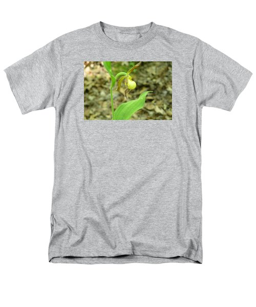 Men's T-Shirt  (Regular Fit) featuring the photograph Yellow Lady-slipper by Linda Geiger