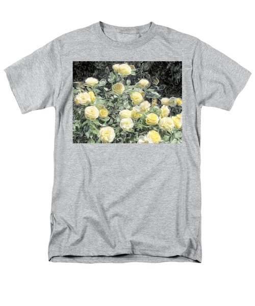Yellow Roses Men's T-Shirt  (Regular Fit) by Carol Crisafi