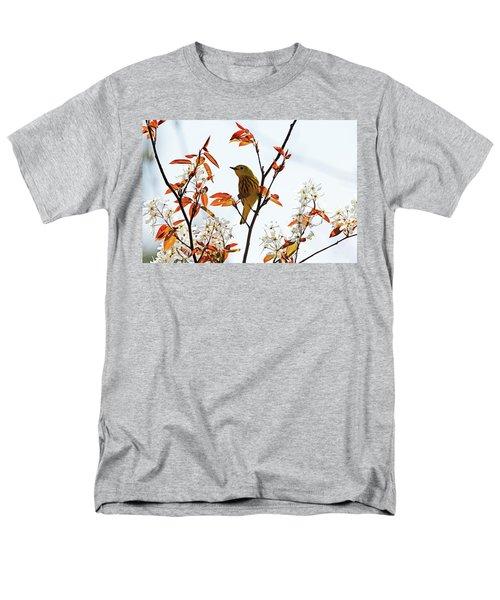 Yellow Warbler Men's T-Shirt  (Regular Fit) by Debbie Oppermann