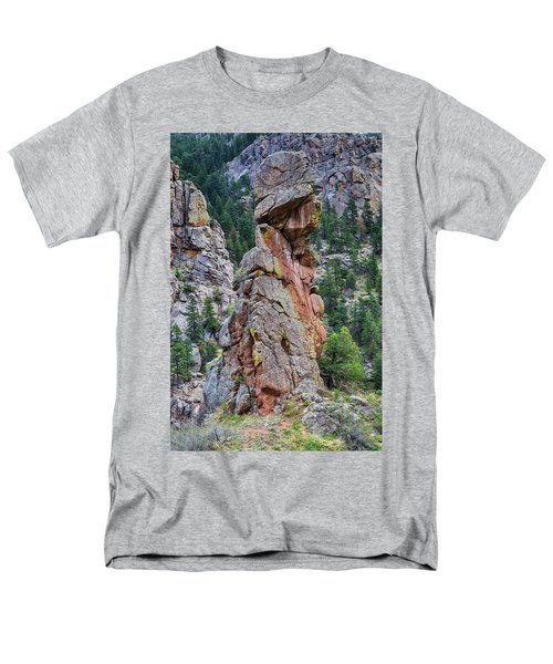 Men's T-Shirt  (Regular Fit) featuring the photograph Yogi Bear Rock Formation by James BO Insogna