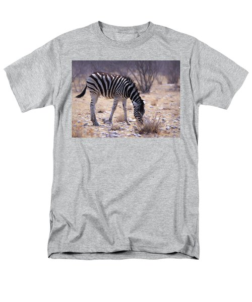 Men's T-Shirt  (Regular Fit) featuring the digital art Young Plains Zebra by Ernie Echols