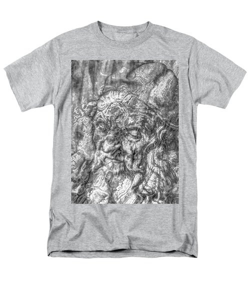 Men's T-Shirt  (Regular Fit) featuring the mixed media Yury Bashkin   Known Head by Yury Bashkin