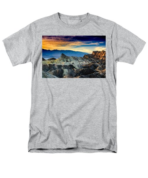 Men's T-Shirt  (Regular Fit) featuring the photograph Zabriskie Point At Sundown by Janis Knight