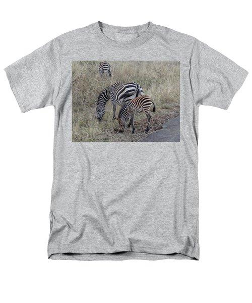Zebras In Kenya 1 Men's T-Shirt  (Regular Fit) by Exploramum Exploramum