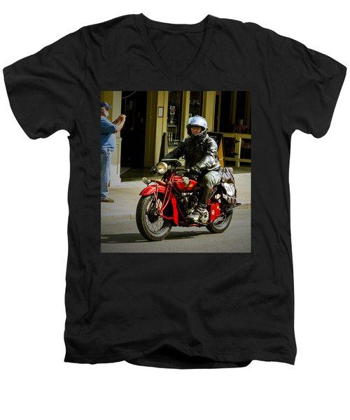 # 70 Rolls In To Cape G'. Men's V-Neck T-Shirt