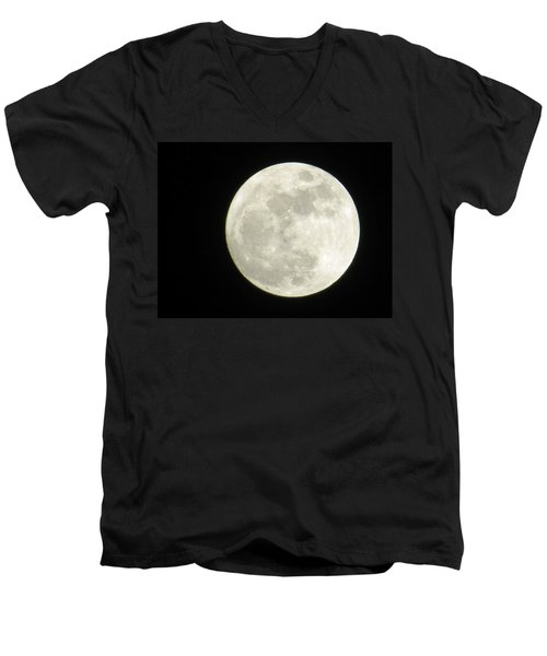 A Winter'sfullmoon Over Ga Men's V-Neck T-Shirt
