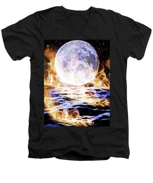 Emotions On Fire Men's V-Neck T-Shirt