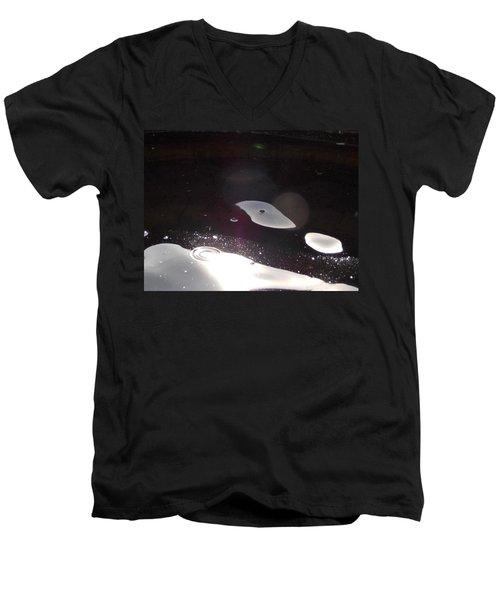 Men's V-Neck T-Shirt featuring the photograph  Another World by Deborah Moen