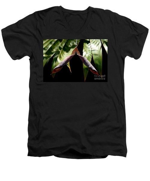 Husk Men's V-Neck T-Shirt by Michelle Meenawong