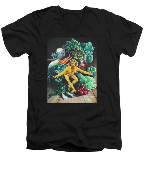 The Dancing Lemon Men's V-Neck T-Shirt