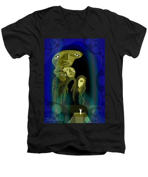 028 -  The  Arrival Of The Gods  Men's V-Neck T-Shirt