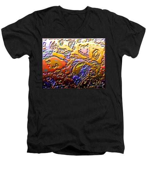 0365 Abstract Thought Men's V-Neck T-Shirt