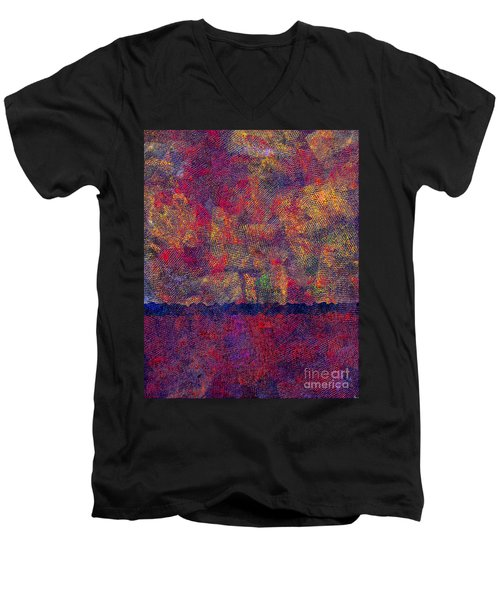 0799 Abstract Thought Men's V-Neck T-Shirt