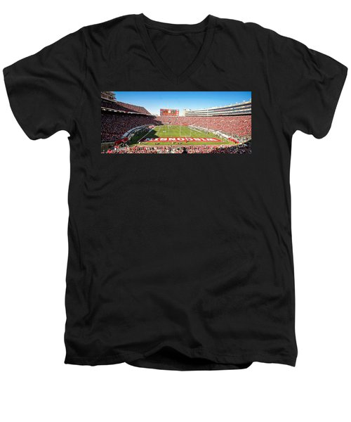 0812 Camp Randall Stadium Panorama Men's V-Neck T-Shirt