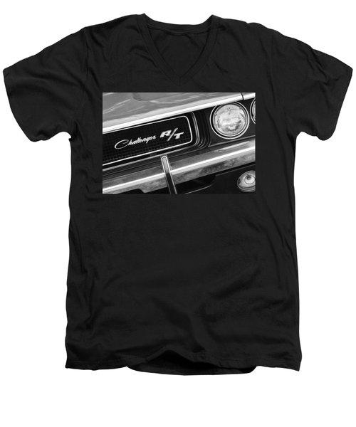 1970 Dodge Challenger Rt Convertible Grille Emblem Men's V-Neck T-Shirt