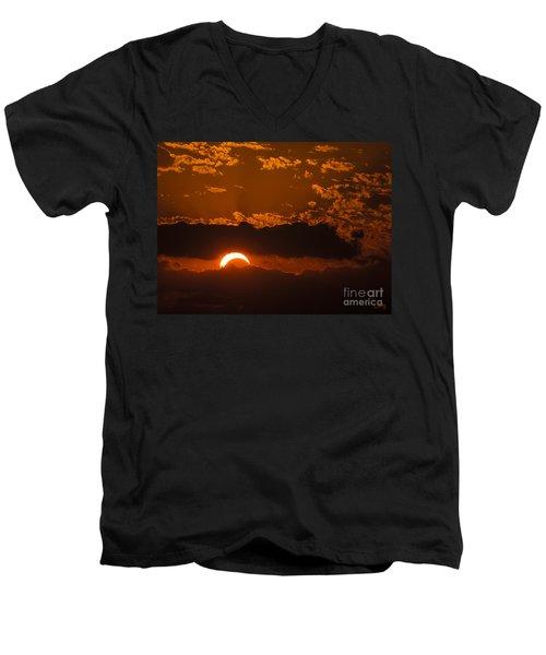 2012 Solar Eclipse Men's V-Neck T-Shirt