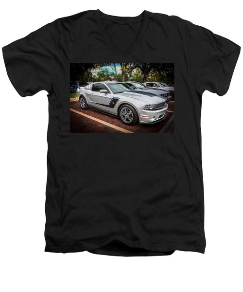 2012 Ford Roush Stage 3 Mustang Rs3 Painted  Men's V-Neck T-Shirt
