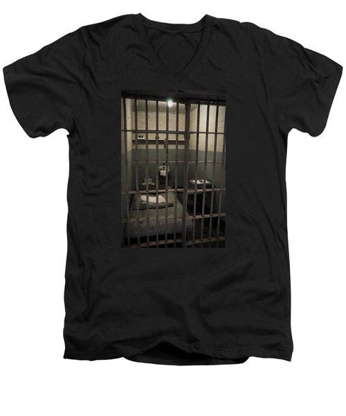 A Cell In Alcatraz Prison Men's V-Neck T-Shirt