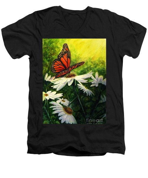 A Life-changing Encounter Men's V-Neck T-Shirt by Hazel Holland
