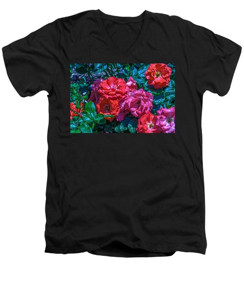 A Rose Is A Rose Men's V-Neck T-Shirt by Richard J Cassato