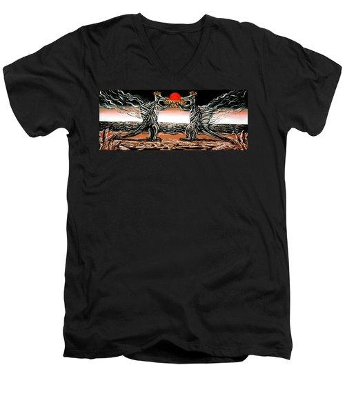 Abiogenic Memetics  Men's V-Neck T-Shirt