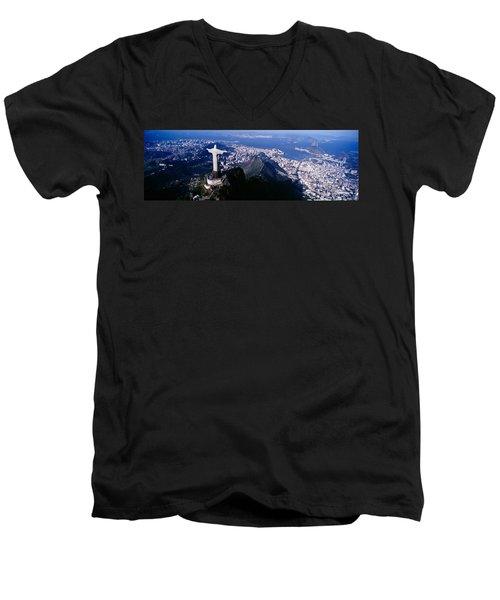 Aerial, Rio De Janeiro, Brazil Men's V-Neck T-Shirt