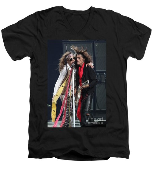Aerosmith Men's V-Neck T-Shirt by Concert Photos