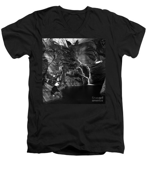 At Waters Edge Men's V-Neck T-Shirt by Christian Slanec