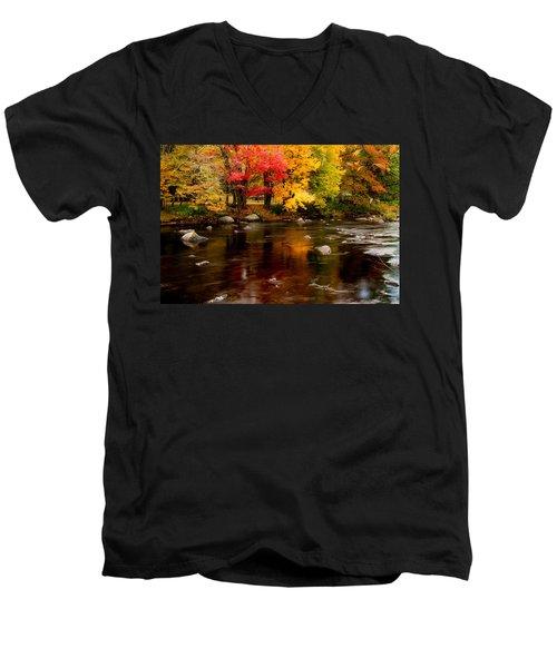 Autumn Colors Reflected Men's V-Neck T-Shirt