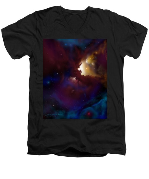 Bat Nebula Men's V-Neck T-Shirt