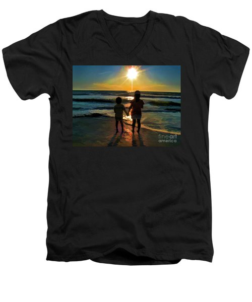 Beach Kids Men's V-Neck T-Shirt