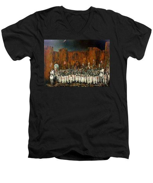 Before Battle Men's V-Neck T-Shirt