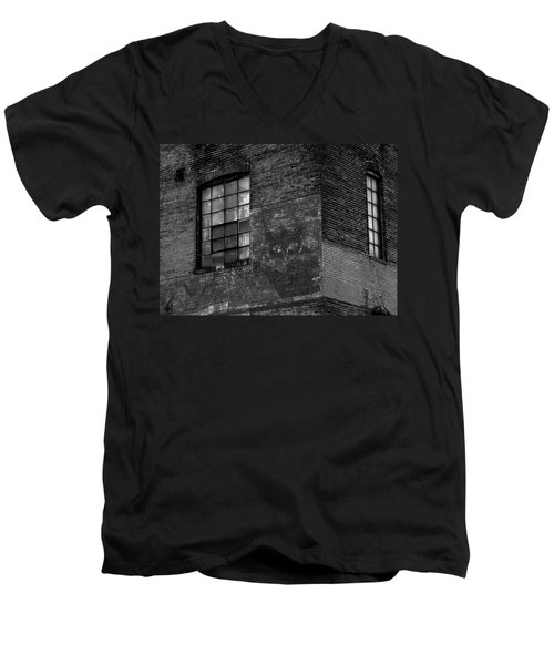 Black Kat Men's V-Neck T-Shirt by Robert Geary